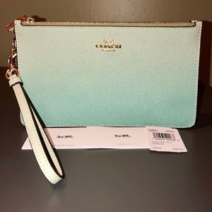 NEW COACH💖OMBRE CROSBY DOUBLE ZIP CLUTCH WRISTLET